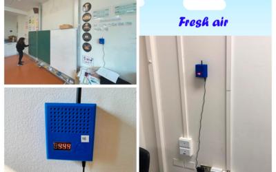 Colegio Alemán inicia pilotaje con nuevos sensores de CO2 en las salas de clases